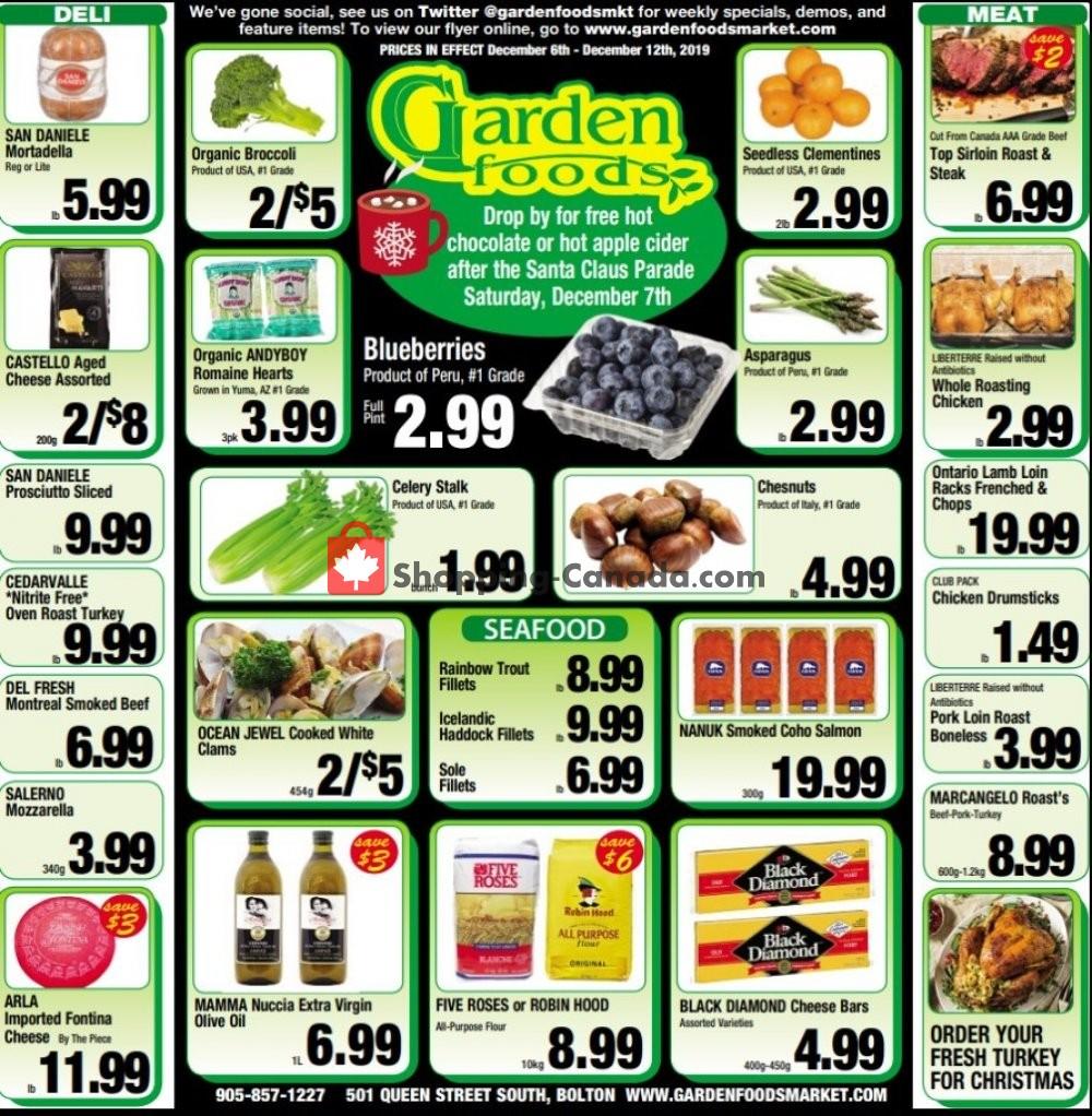 Flyer Garden Foods Canada - from Friday December 6, 2019 to Thursday December 12, 2019