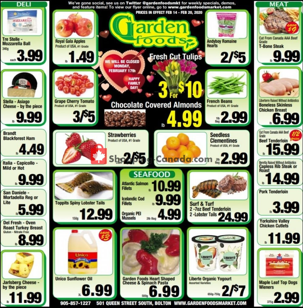 Flyer Garden Foods Canada - from Friday February 14, 2020 to Thursday February 20, 2020