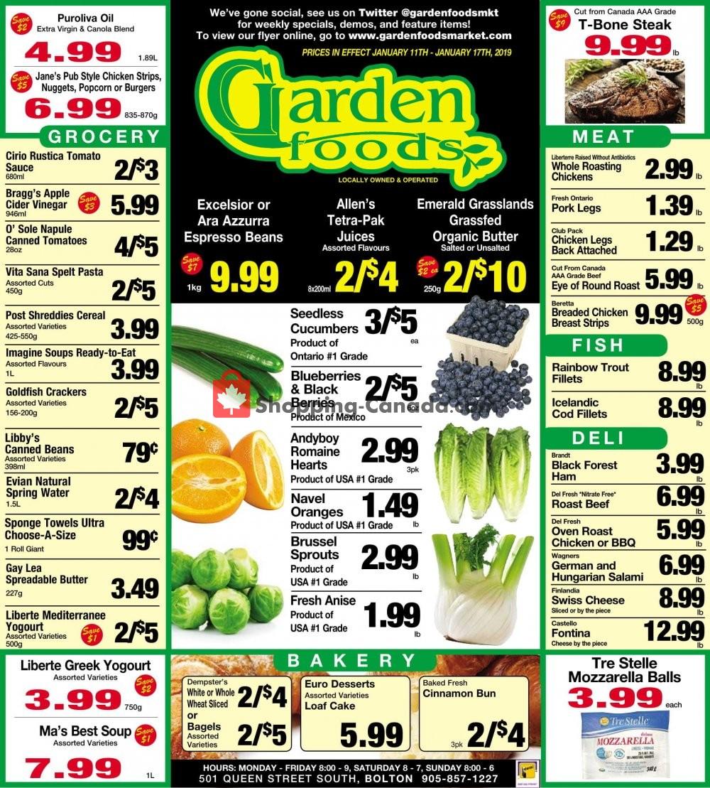 Flyer Garden Foods Canada - from Friday January 11, 2019 to Thursday January 17, 2019