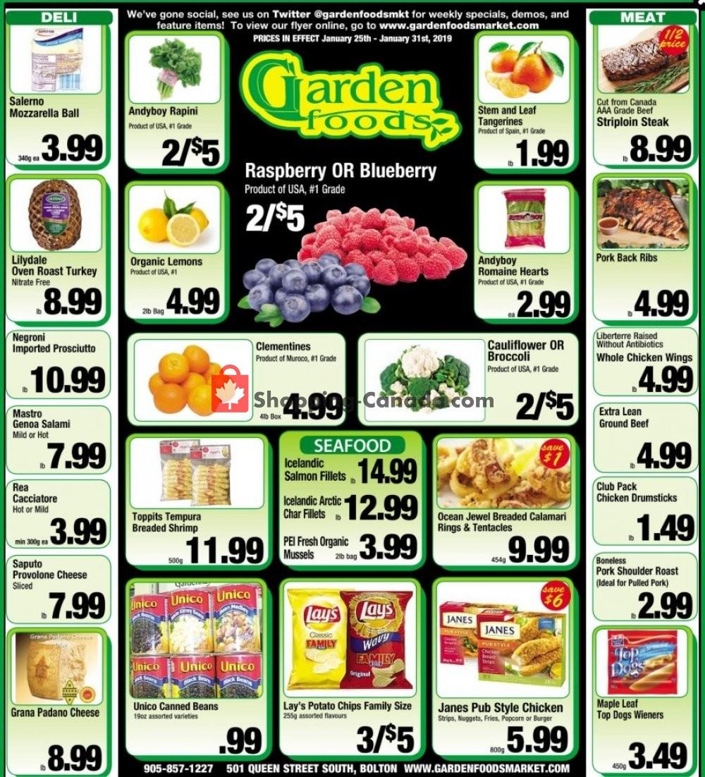Flyer Garden Foods Canada - from Friday January 25, 2019 to Thursday January 31, 2019