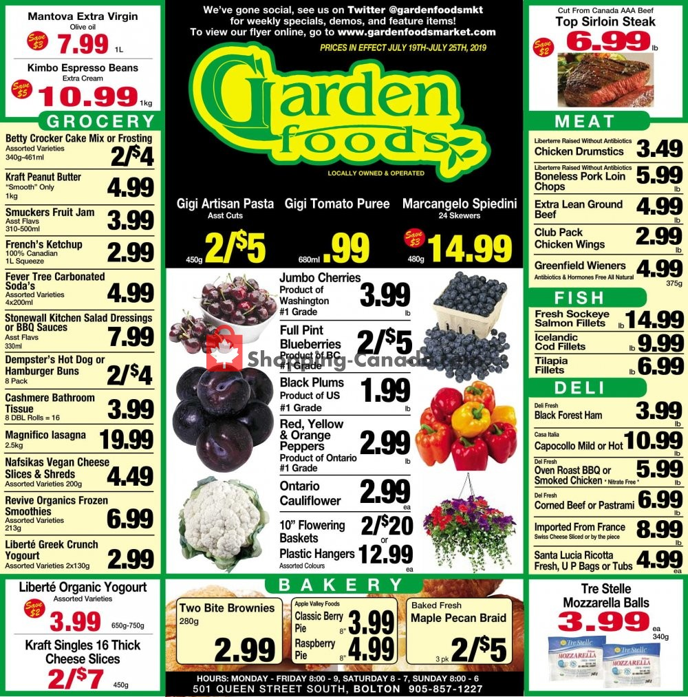 Flyer Garden Foods Canada - from Friday July 19, 2019 to Thursday July 25, 2019