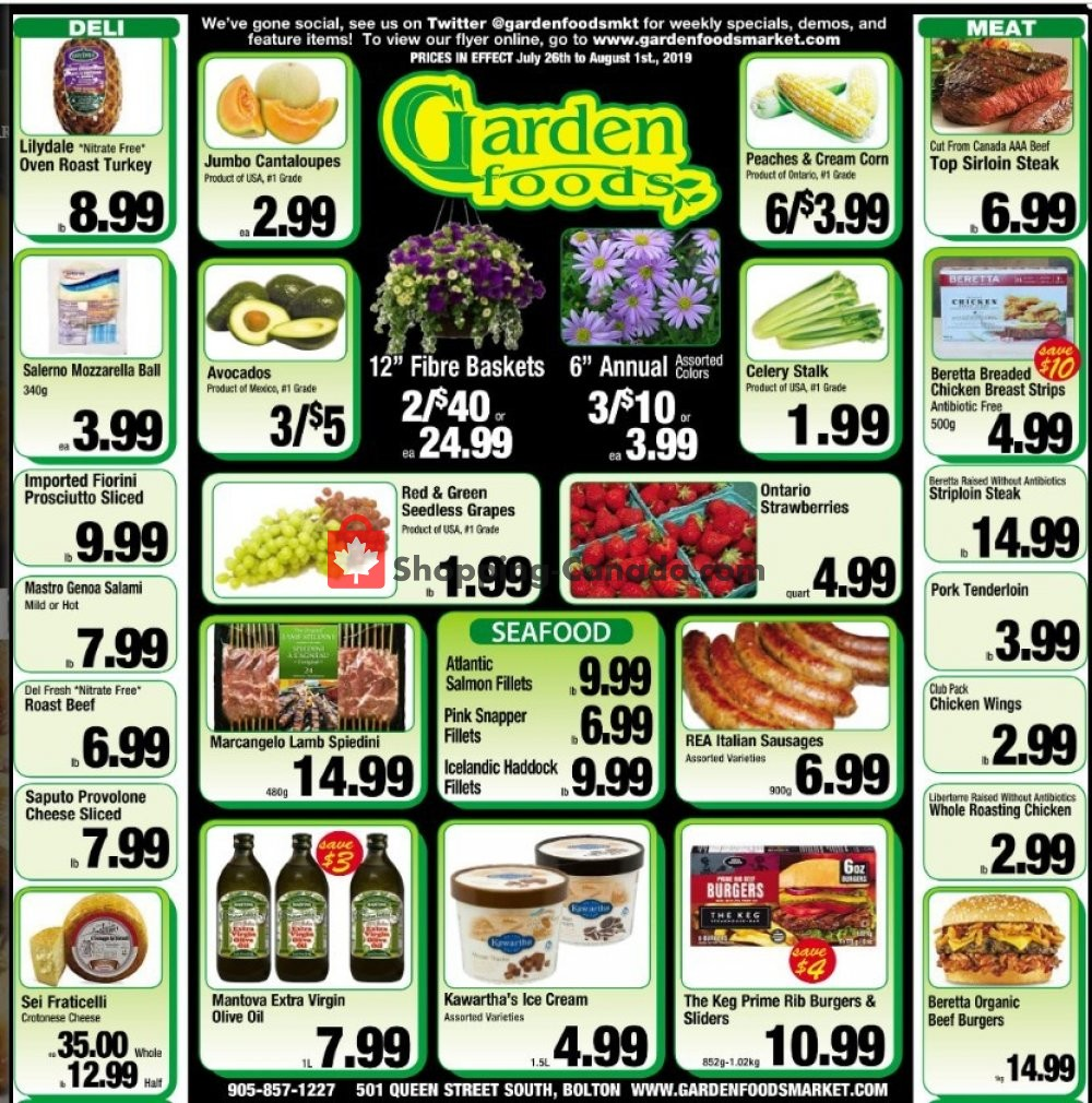 Flyer Garden Foods Canada - from Friday July 26, 2019 to Thursday August 1, 2019