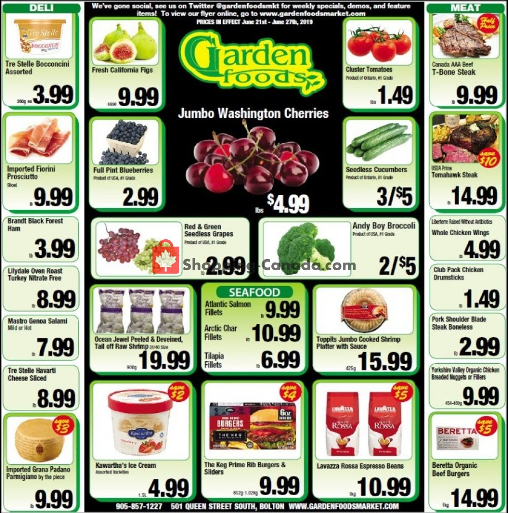 Flyer Garden Foods Canada - from Friday June 21, 2019 to Thursday June 27, 2019