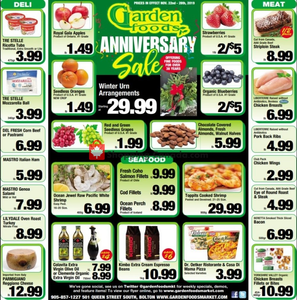 Flyer Garden Foods Canada - from Friday November 22, 2019 to Thursday November 28, 2019