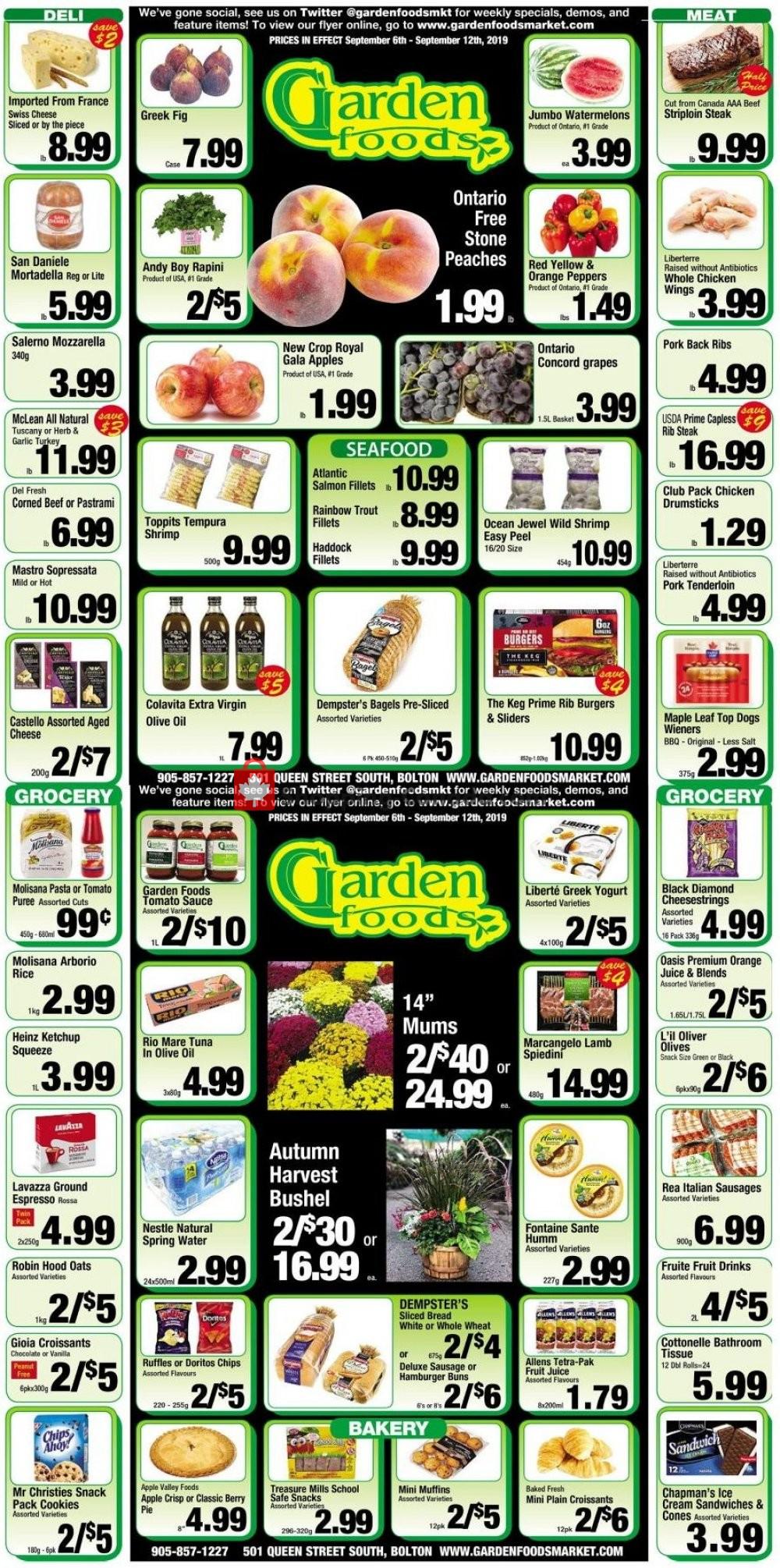 Flyer Garden Foods Canada - from Friday September 6, 2019 to Thursday September 12, 2019