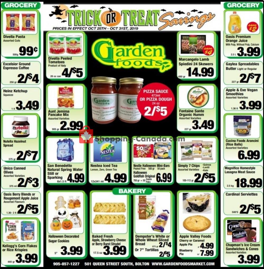 Flyer Garden Foods Canada - from Friday October 25, 2019 to Thursday October 31, 2019