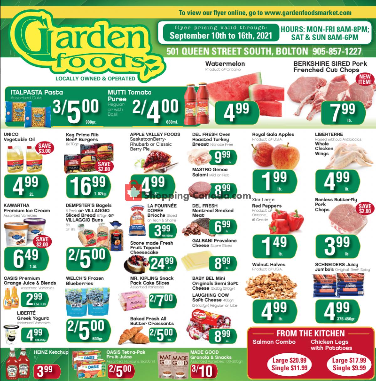 Flyer Garden Foods Canada - from Friday September 10, 2021 to Thursday September 16, 2021
