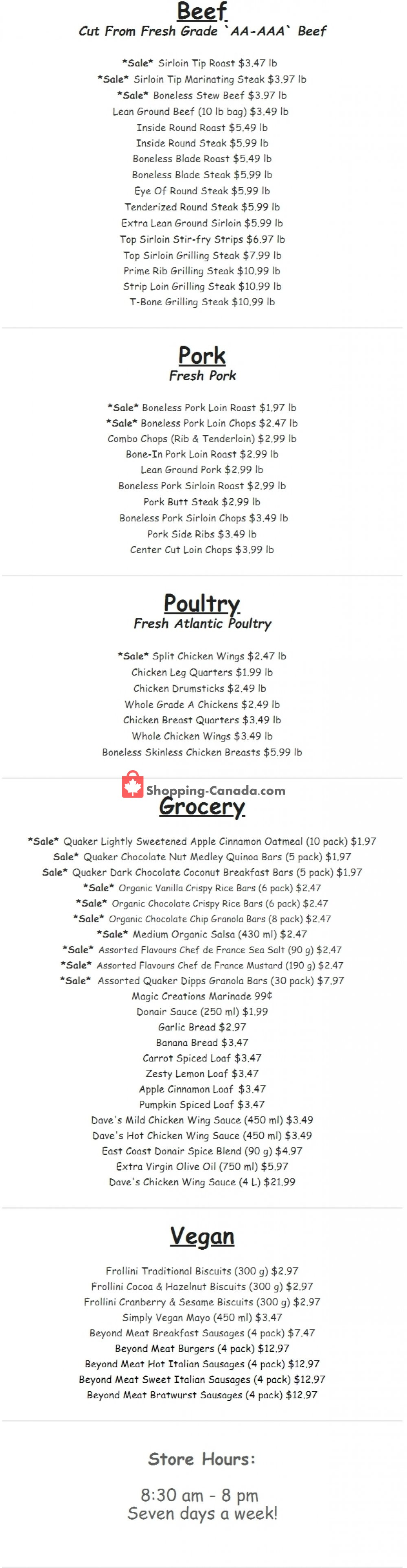 Flyer Gateway Meat Market Canada - from Thursday November 7, 2019 to Wednesday November 13, 2019