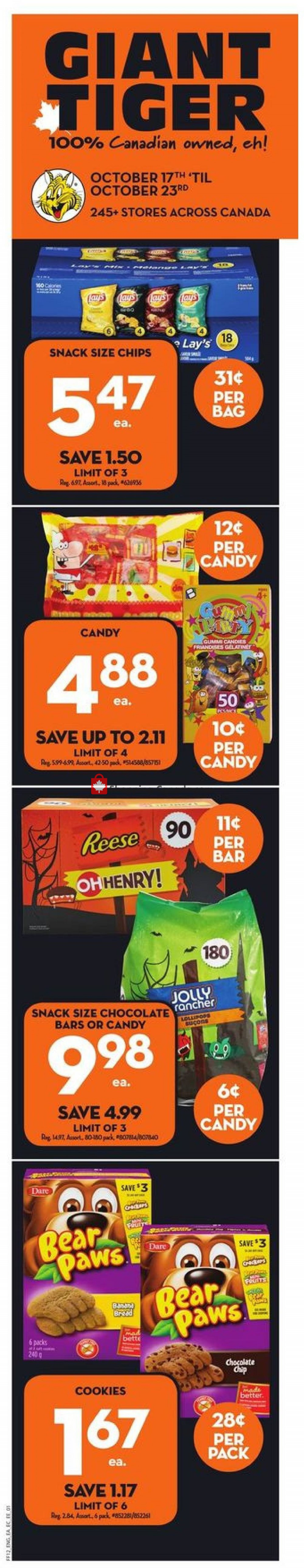 Flyer Giant Tiger Canada - from Wednesday October 17, 2018 to Tuesday October 23, 2018