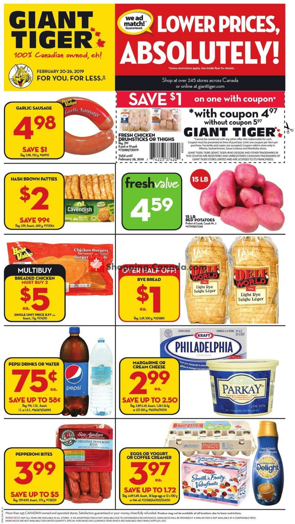 Flyer Giant Tiger Canada - from Wednesday February 20, 2019 to Tuesday February 26, 2019