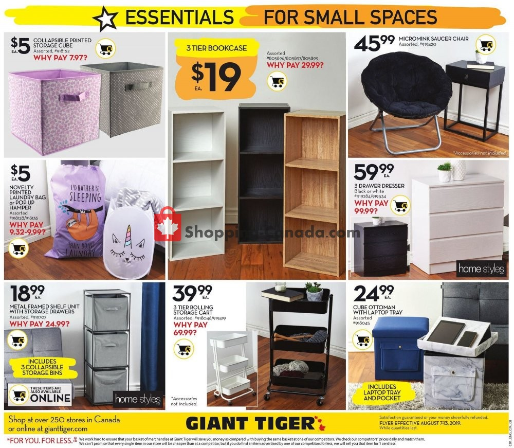 Flyer Giant Tiger Canada - from Wednesday August 7, 2019 to Tuesday August 13, 2019