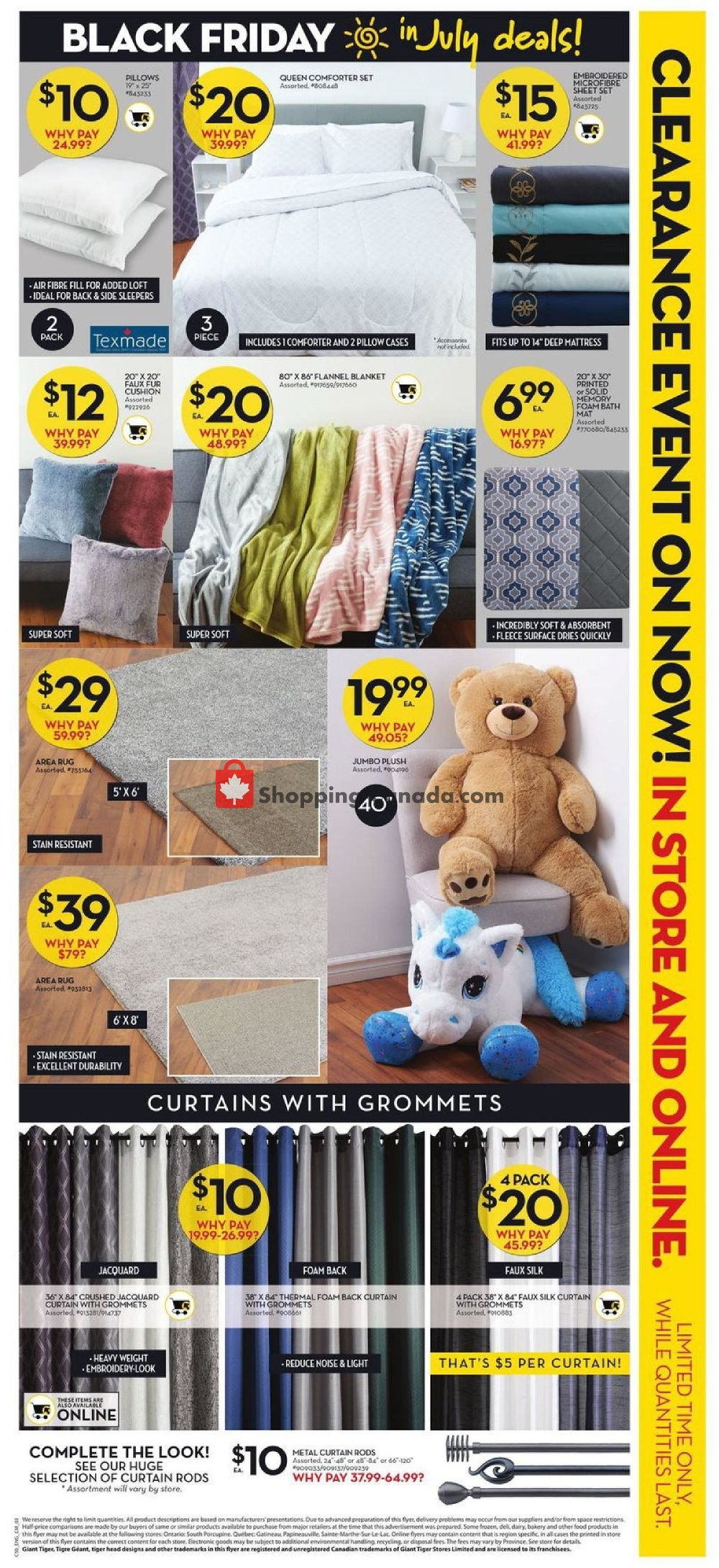 Flyer Giant Tiger Canada - from Wednesday July 10, 2019 to Tuesday July 16, 2019