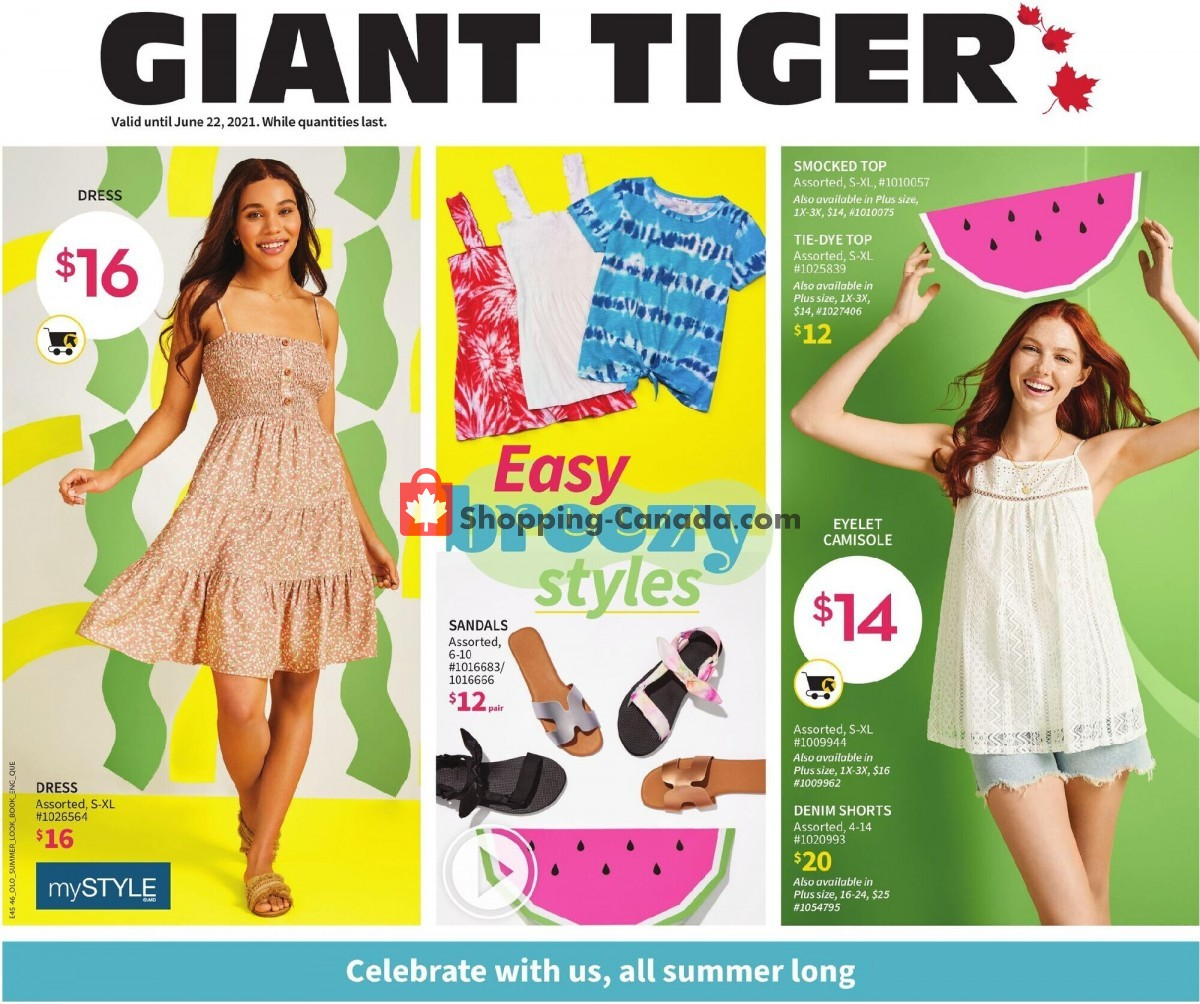 Flyer Giant Tiger Canada - from Wednesday June 9, 2021 to Tuesday June 22, 2021