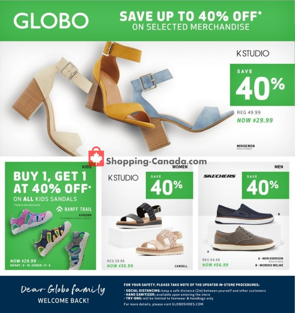 Flyer Globo Shoes Canada - from Wednesday May 27, 2020 to Sunday June 7, 2020