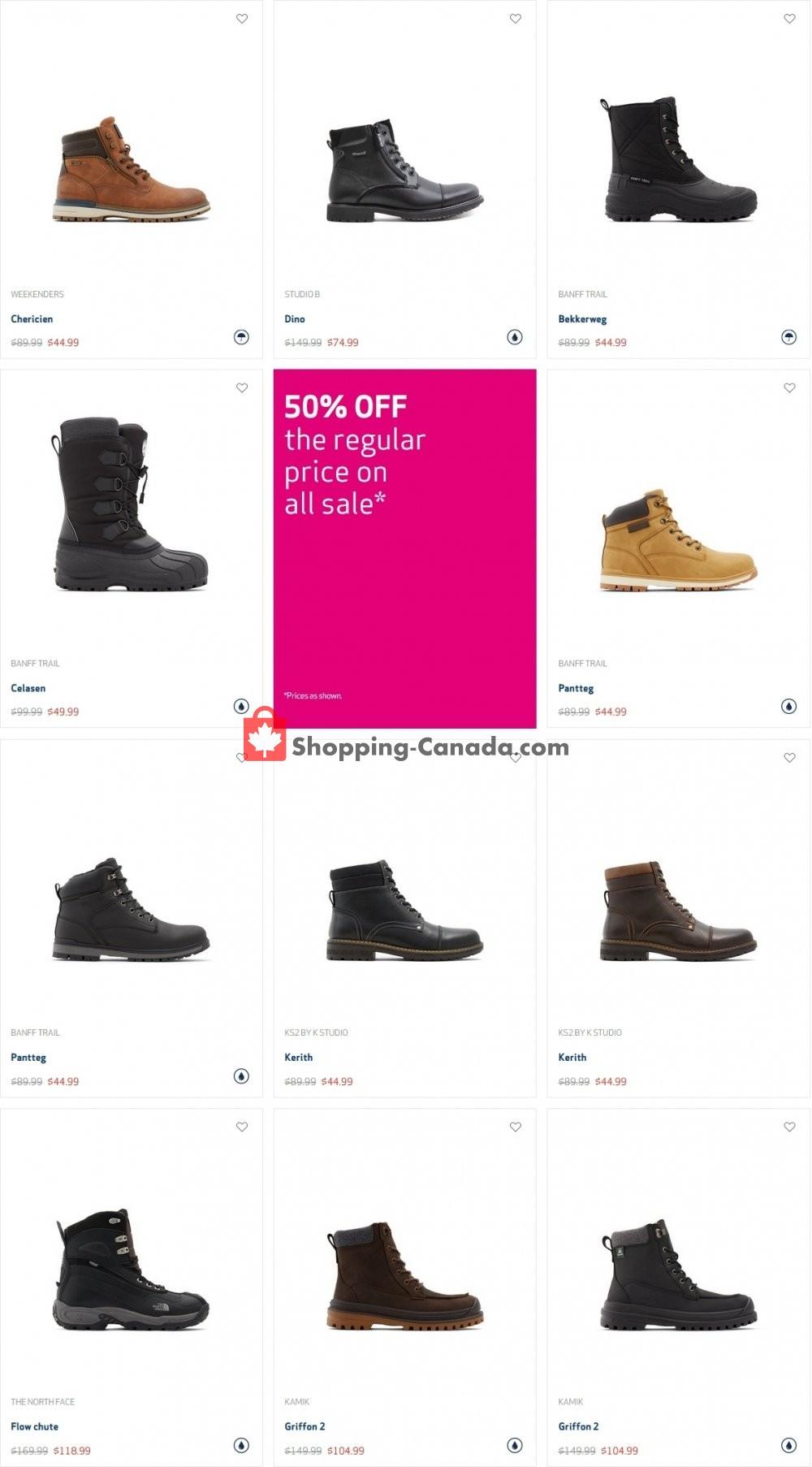Flyer Globo Shoes Canada - from Monday January 18, 2021 to Sunday January 24, 2021