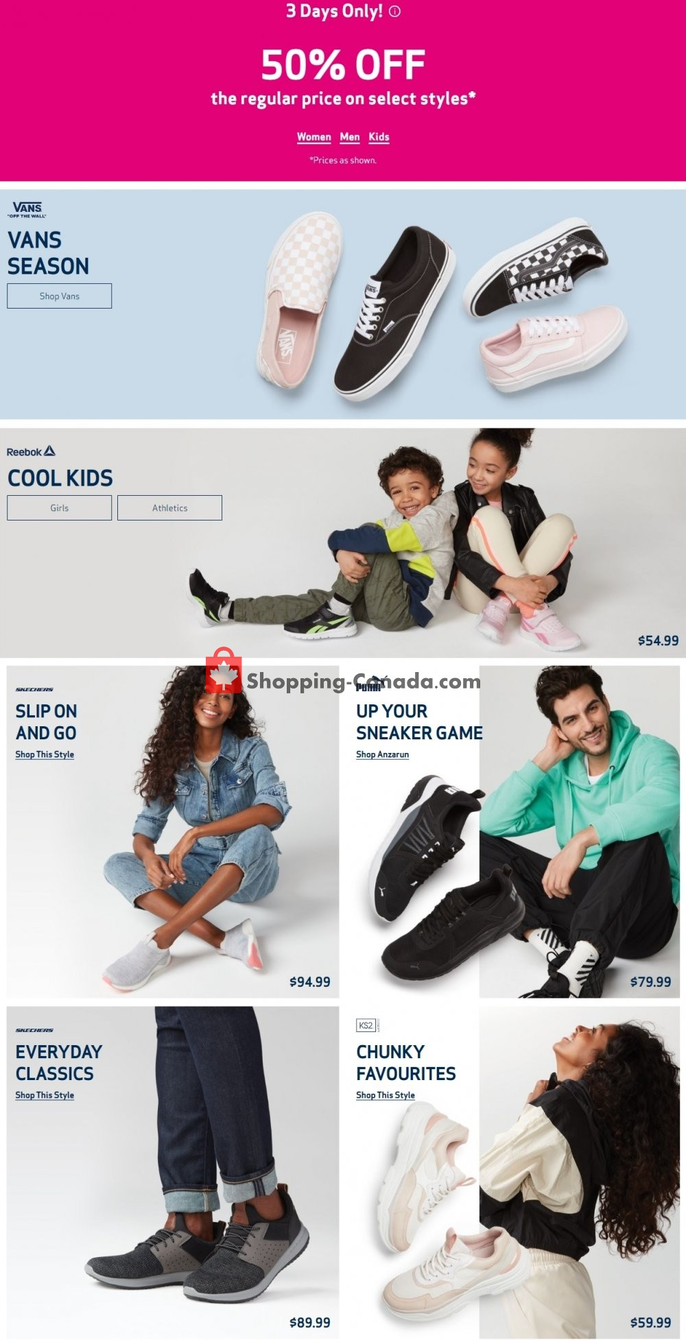 Flyer Globo Shoes Canada - from Wednesday April 29, 2020 to Tuesday May 5, 2020