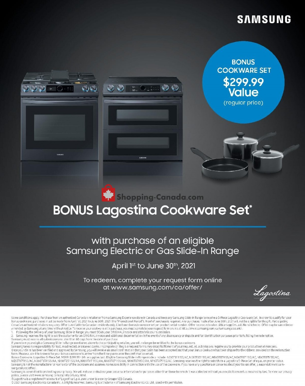 Flyer GOEMANS APPLIANCES Canada - from Thursday April 1, 2021 to Wednesday June 30, 2021