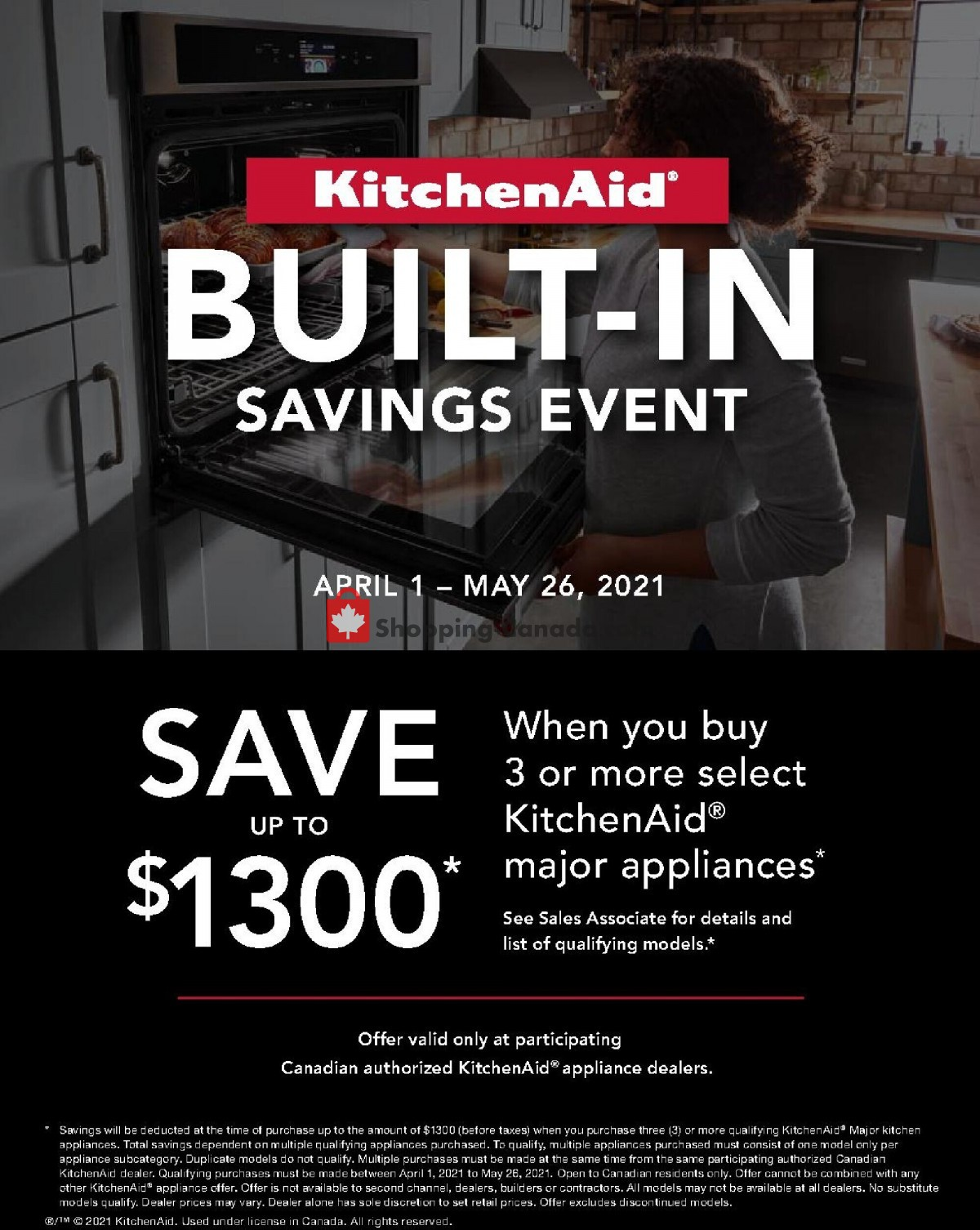 Flyer GOEMANS APPLIANCES Canada - from Thursday April 1, 2021 to Wednesday May 26, 2021