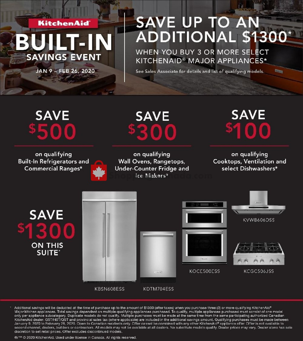 Flyer GOEMANS APPLIANCES Canada - from Thursday January 9, 2020 to Wednesday February 26, 2020