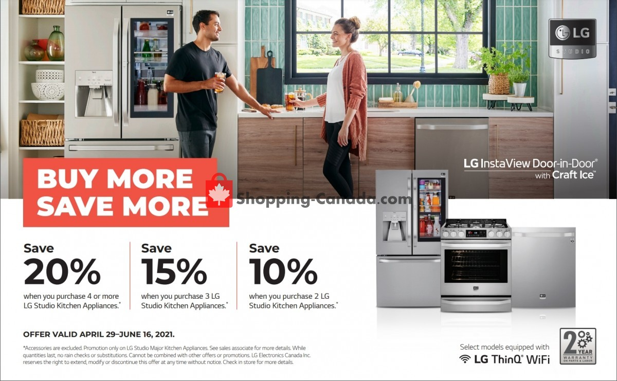 Flyer GOEMANS APPLIANCES Canada - from Thursday April 29, 2021 to Wednesday June 16, 2021