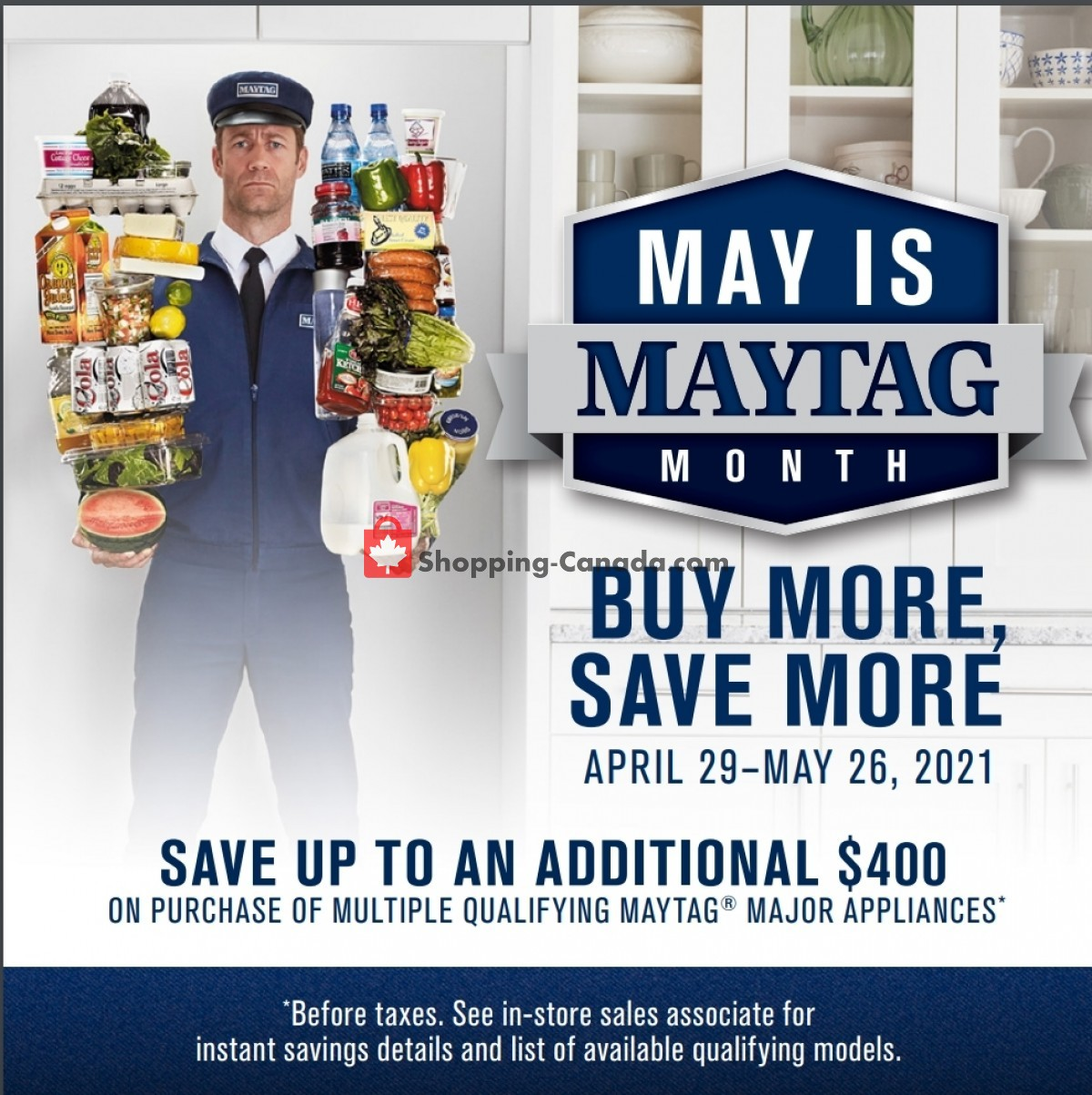 Flyer GOEMANS APPLIANCES Canada - from Thursday April 29, 2021 to Wednesday May 26, 2021