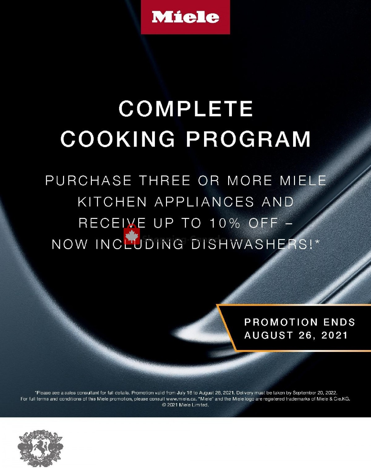 Flyer GOEMANS APPLIANCES Canada - from Monday July 19, 2021 to Thursday August 26, 2021