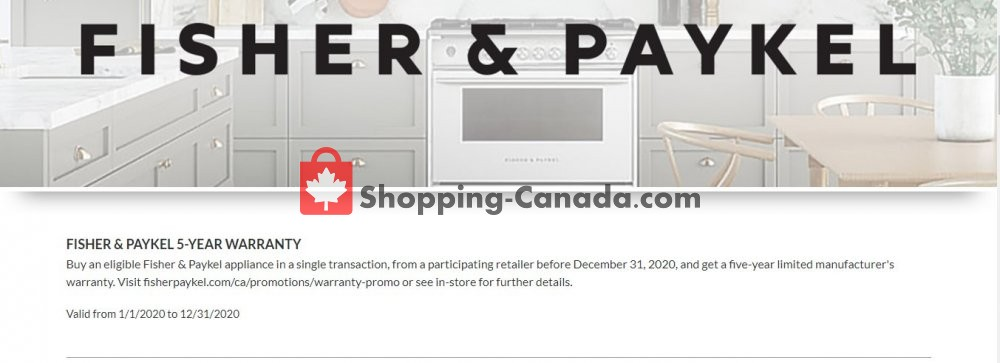 Flyer GOEMANS APPLIANCES Canada - from Wednesday January 1, 2020 to Tuesday March 31, 2020