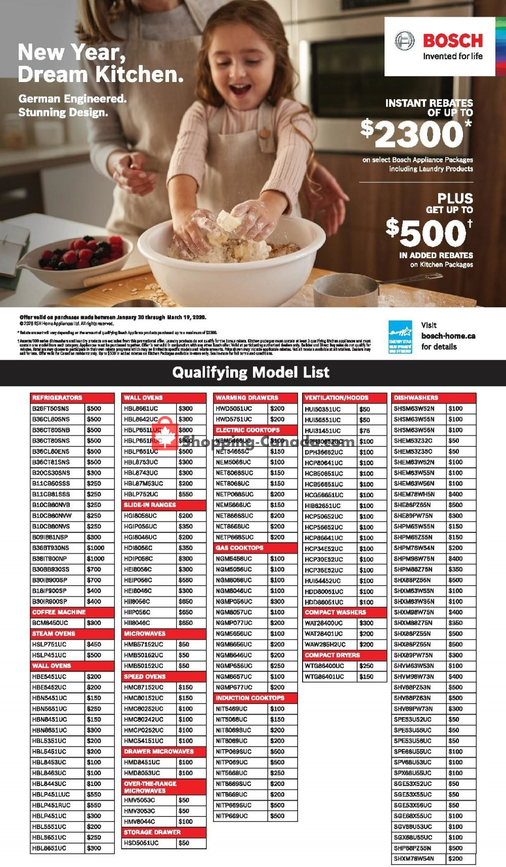 Flyer GOEMANS APPLIANCES Canada - from Thursday January 30, 2020 to Thursday March 19, 2020