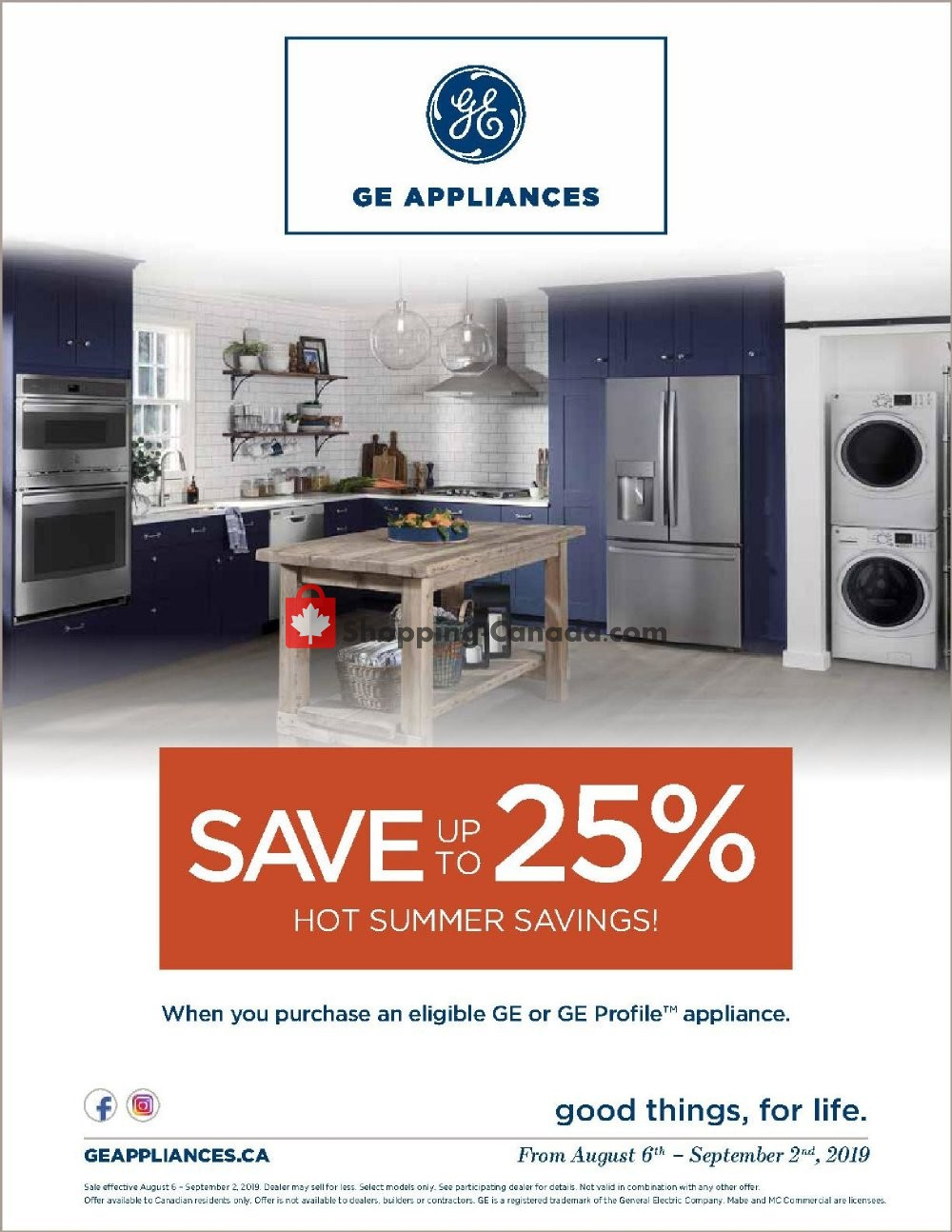 Flyer GOEMANS APPLIANCES Canada - from Tuesday August 6, 2019 to Monday September 2, 2019
