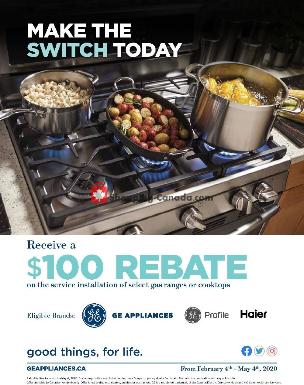 Flyer GOEMANS APPLIANCES Canada - from Tuesday February 4, 2020 to Monday May 4, 2020