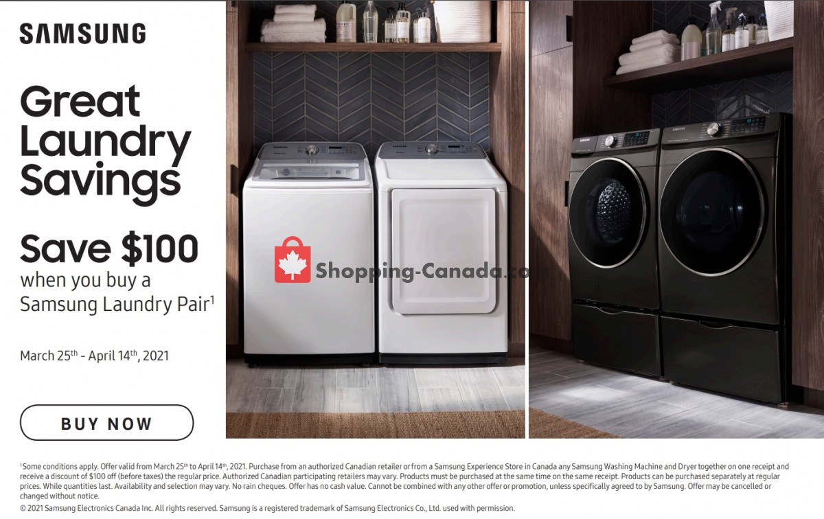 Flyer GOEMANS APPLIANCES Canada - from Thursday March 25, 2021 to Wednesday April 14, 2021