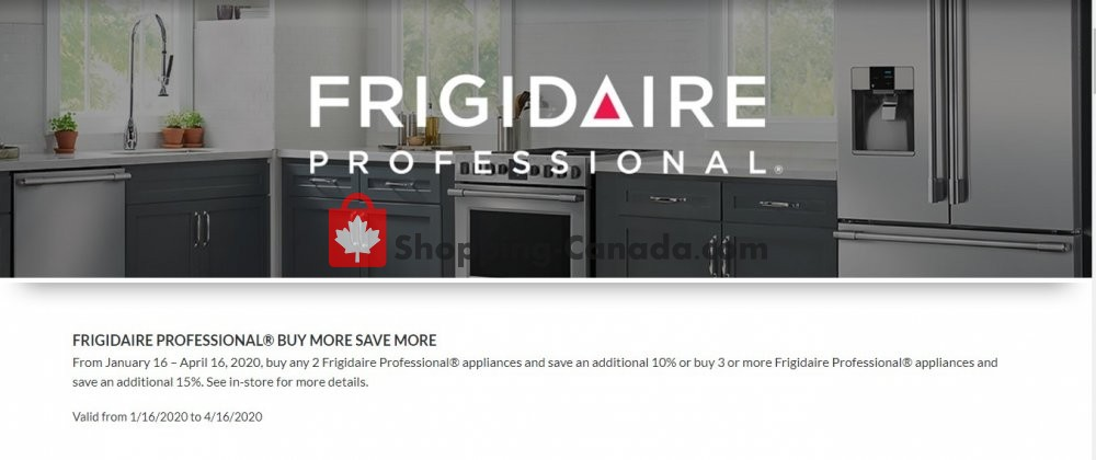 Flyer GOEMANS APPLIANCES Canada - from Thursday January 16, 2020 to Thursday April 16, 2020
