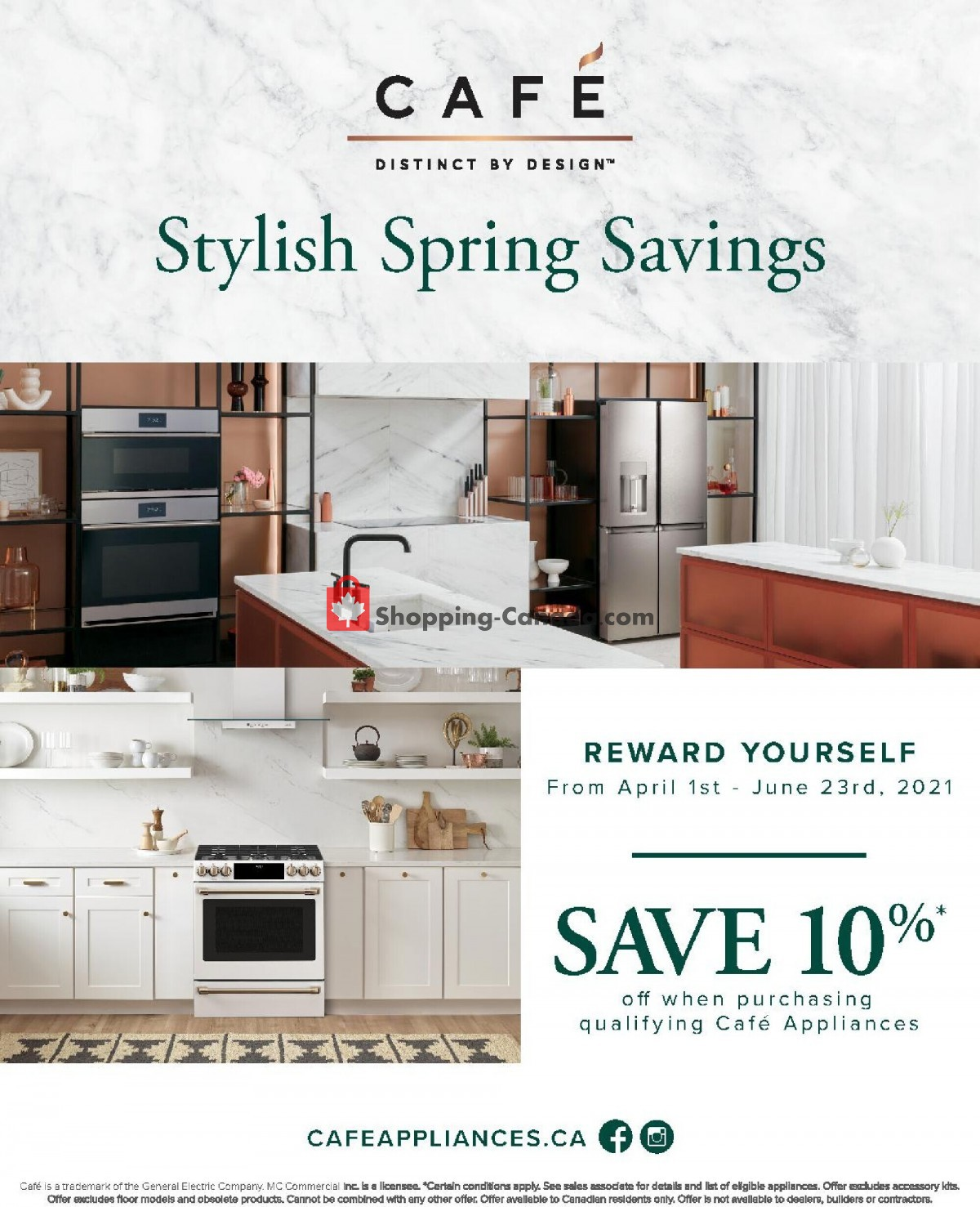Flyer GOEMANS APPLIANCES Canada - from Thursday April 1, 2021 to Wednesday June 23, 2021