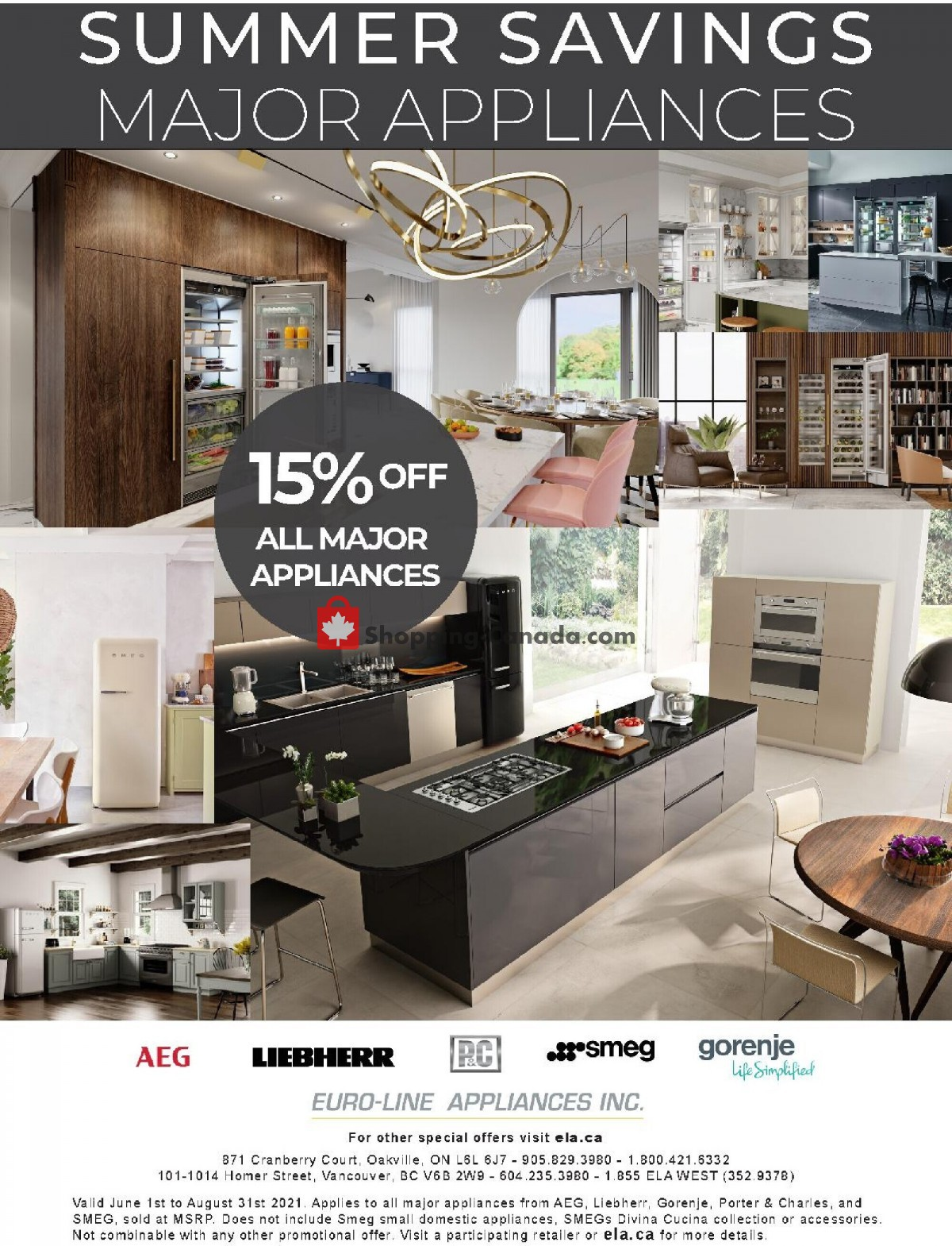 Flyer GOEMANS APPLIANCES Canada - from Tuesday June 1, 2021 to Tuesday August 31, 2021