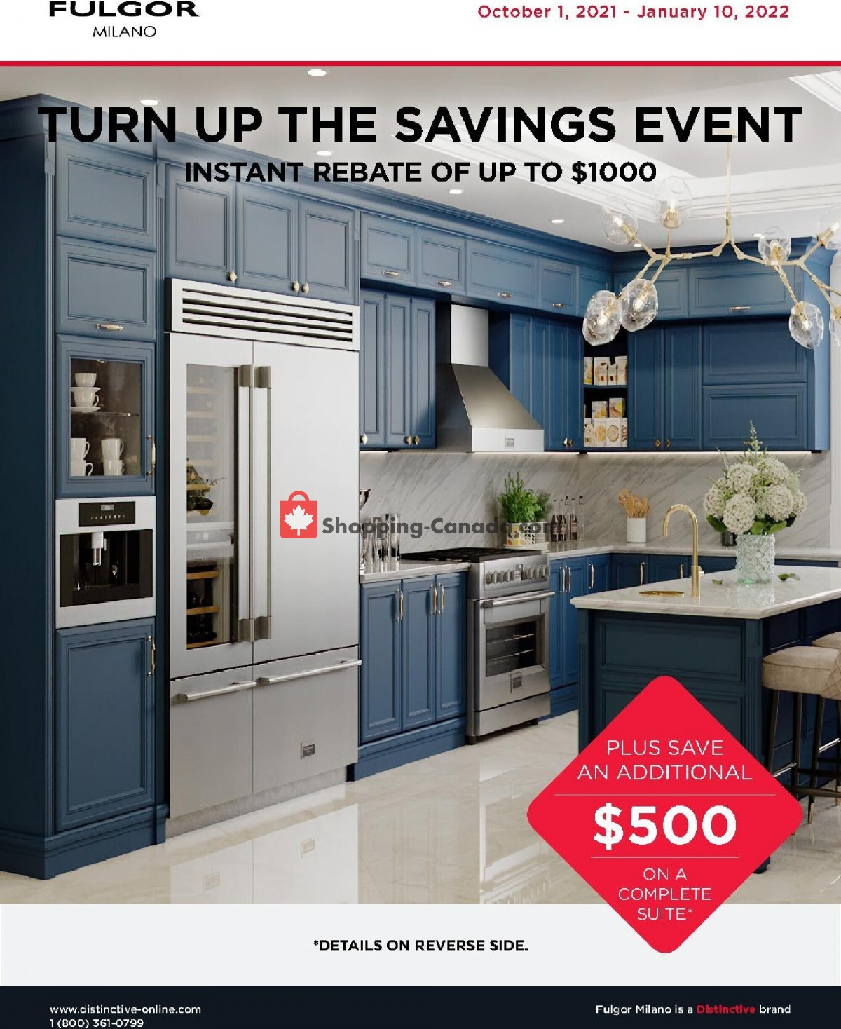 Flyer GOEMANS APPLIANCES Canada - from Friday October 1, 2021 to Monday January 10, 2022