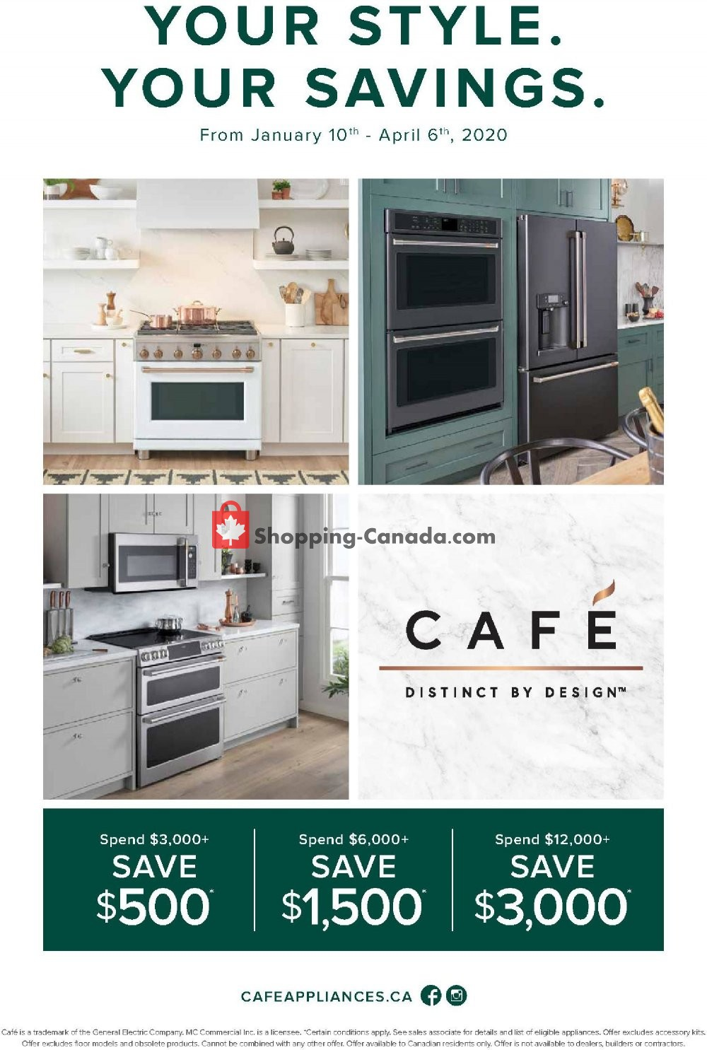 Flyer GOEMANS APPLIANCES Canada - from Friday January 10, 2020 to Monday April 6, 2020