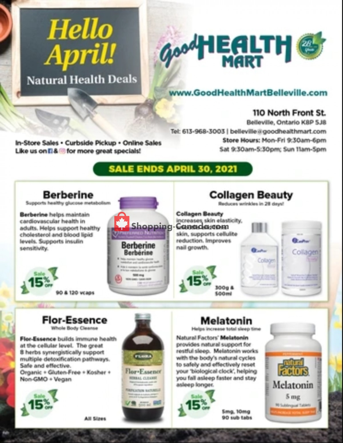 Flyer Good Health Mart Canada - from Thursday April 1, 2021 to Friday April 30, 2021