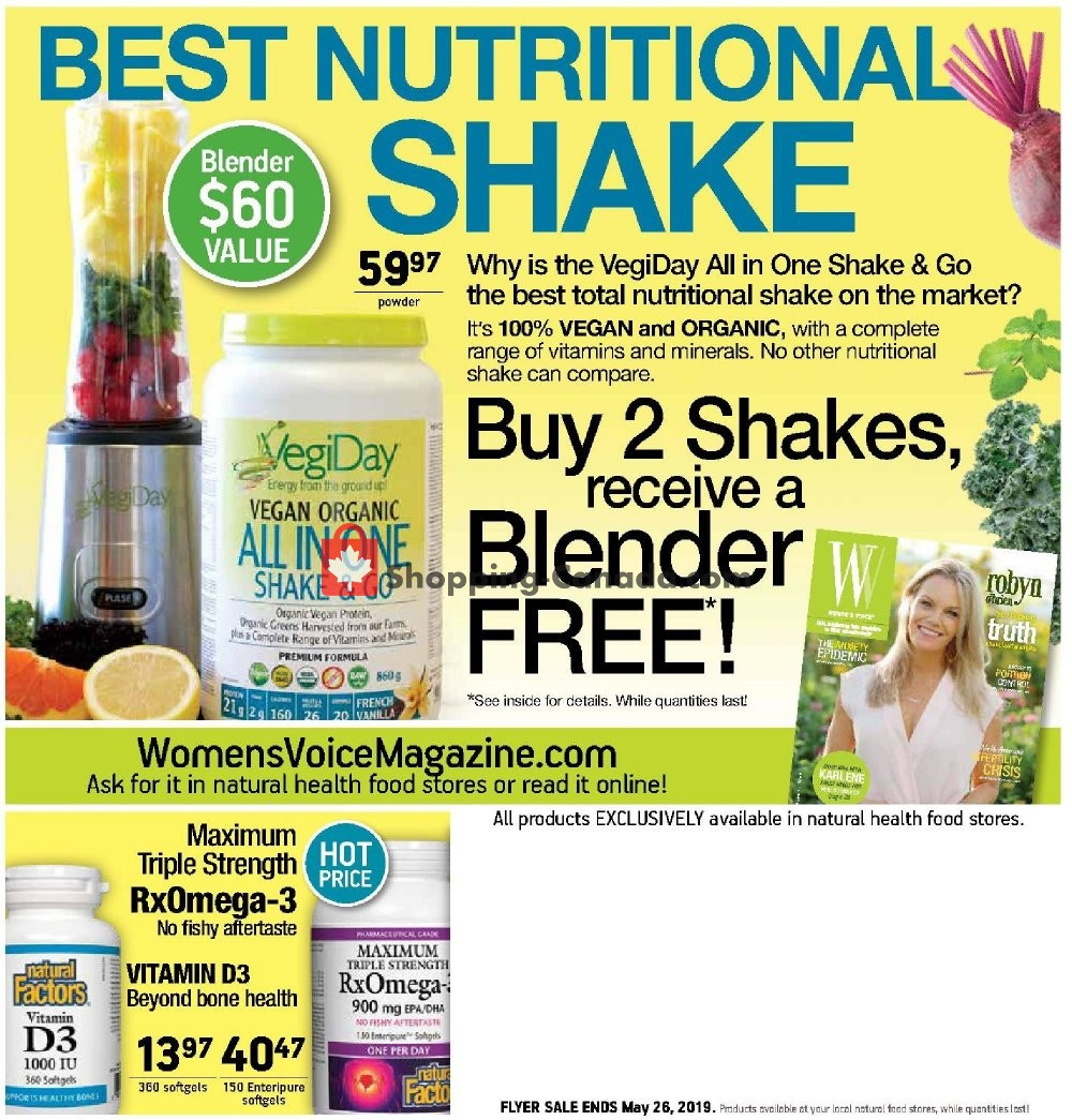 Flyer Good Health Mart Canada - from Thursday May 2, 2019 to Sunday May 26, 2019