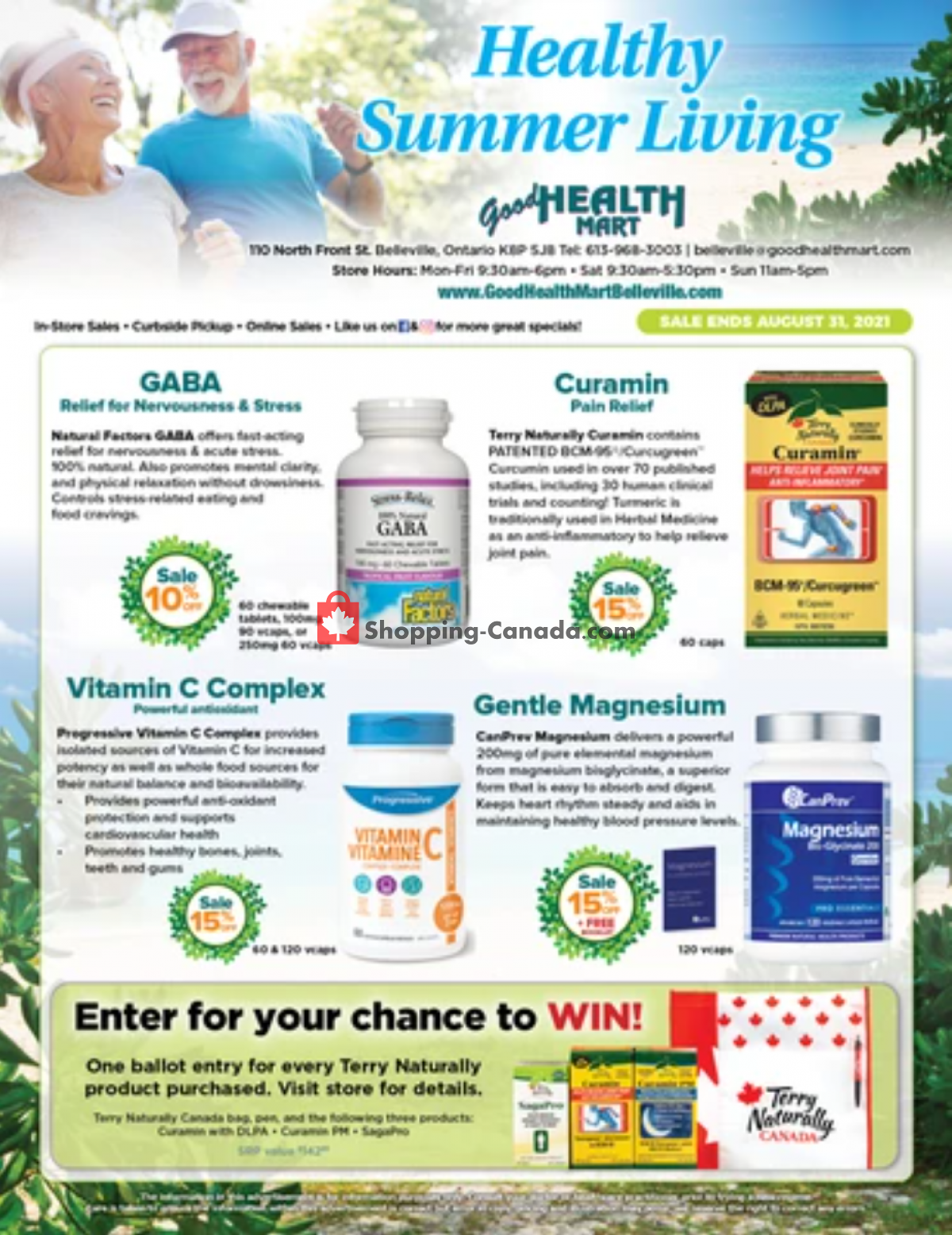 Flyer Good Health Mart Canada - from Friday July 16, 2021 to Tuesday August 31, 2021
