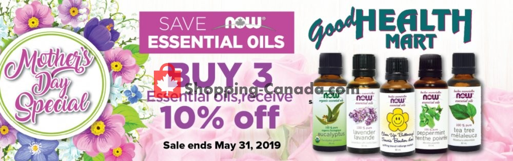 Flyer Good Health Mart Canada - from Wednesday May 1, 2019 to Friday May 31, 2019