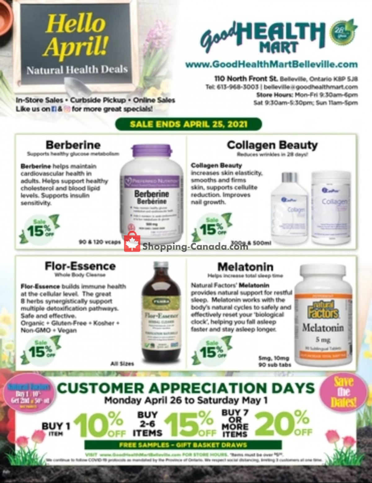 Flyer Good Health Mart Canada - from Thursday April 1, 2021 to Sunday April 25, 2021