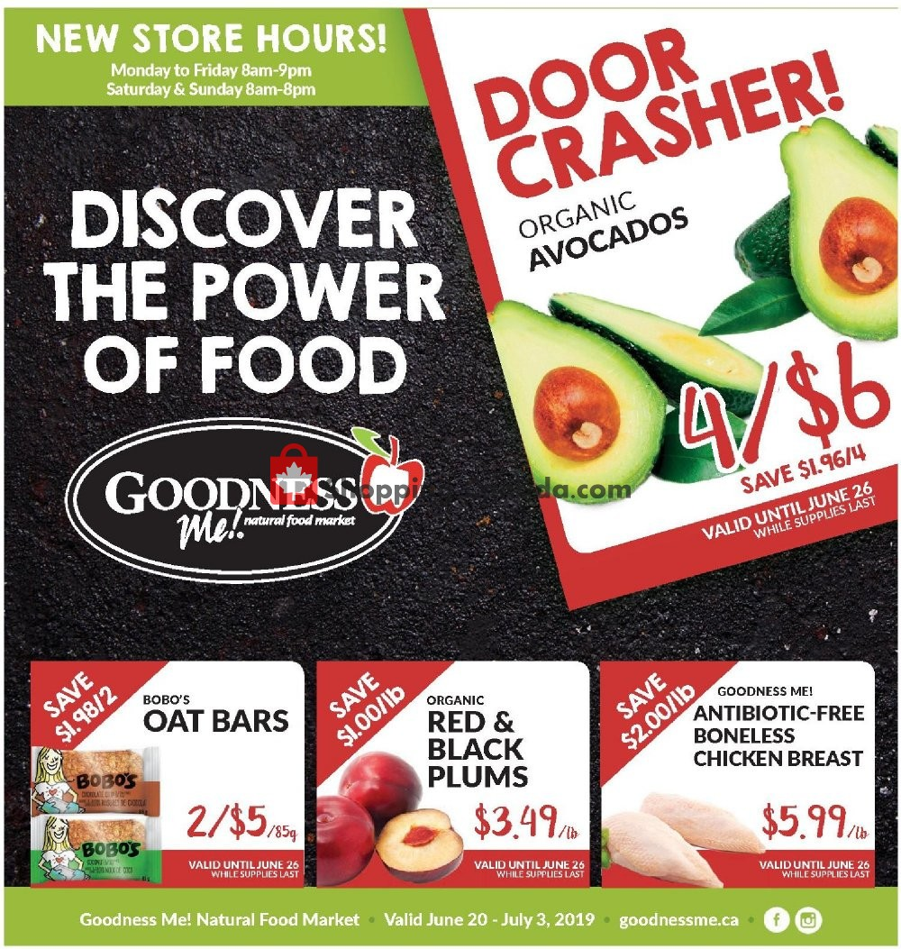 Flyer Goodness Me Canada - from Thursday June 20, 2019 to Wednesday July 3, 2019