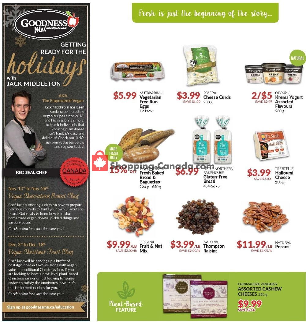 Flyer Goodness Me Canada - from Thursday November 7, 2019 to Wednesday November 20, 2019