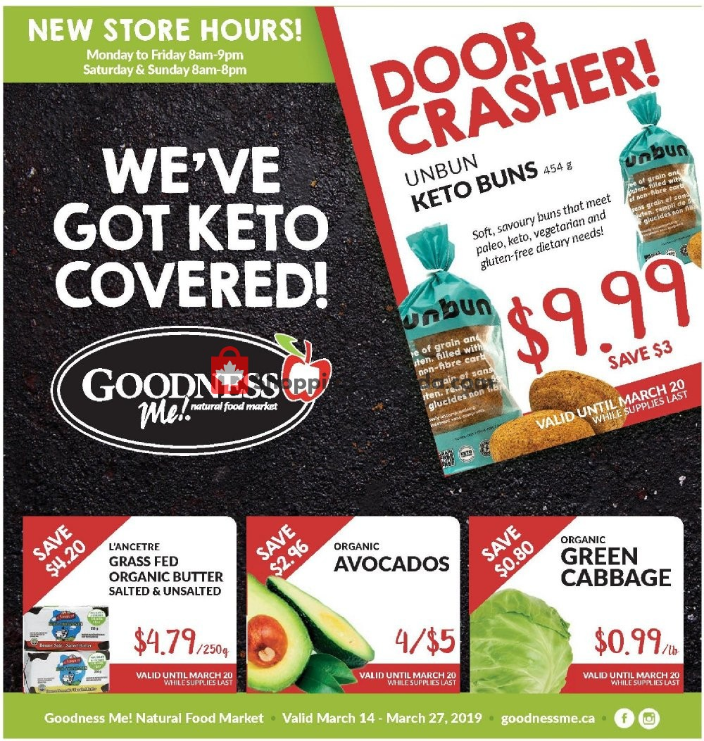 Flyer Goodness Me Canada - from Thursday March 14, 2019 to Wednesday March 27, 2019