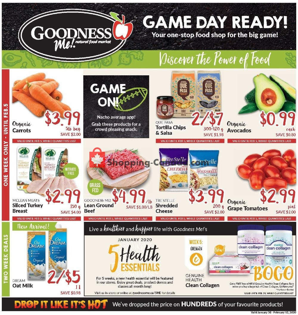 Flyer Goodness Me Canada - from Thursday January 30, 2020 to Wednesday February 12, 2020