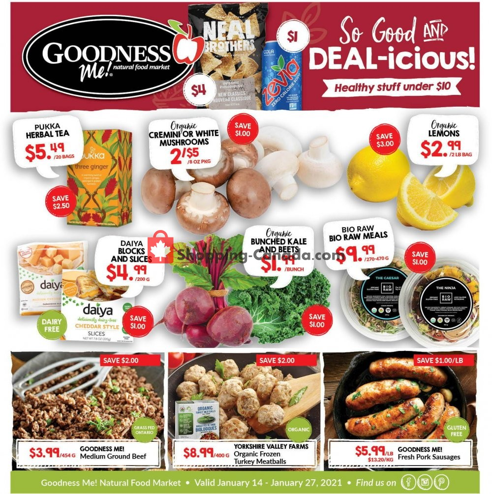 Flyer Goodness Me Canada - from Thursday January 14, 2021 to Wednesday January 27, 2021