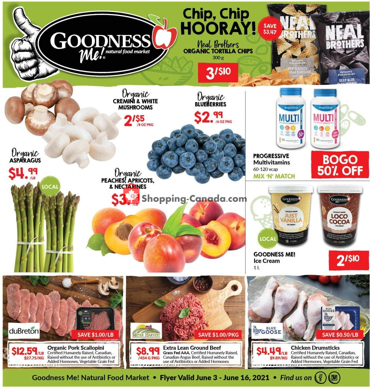 Flyer Goodness Me Canada - from Thursday June 3, 2021 to Wednesday June 16, 2021