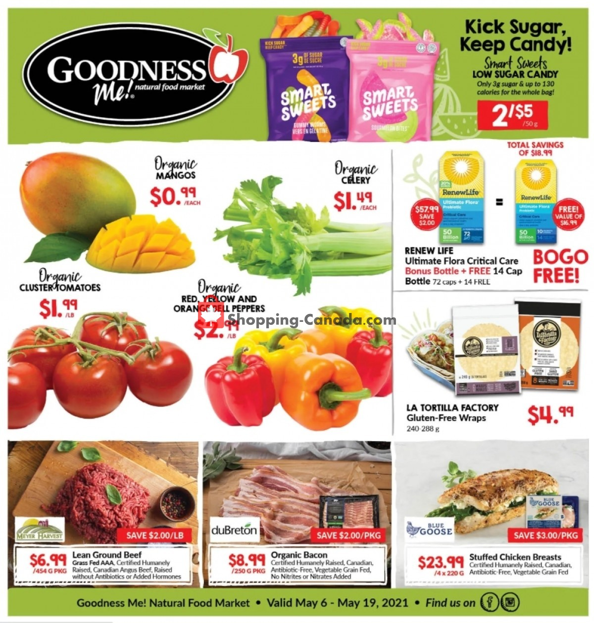 Flyer Goodness Me Canada - from Thursday May 6, 2021 to Wednesday May 19, 2021