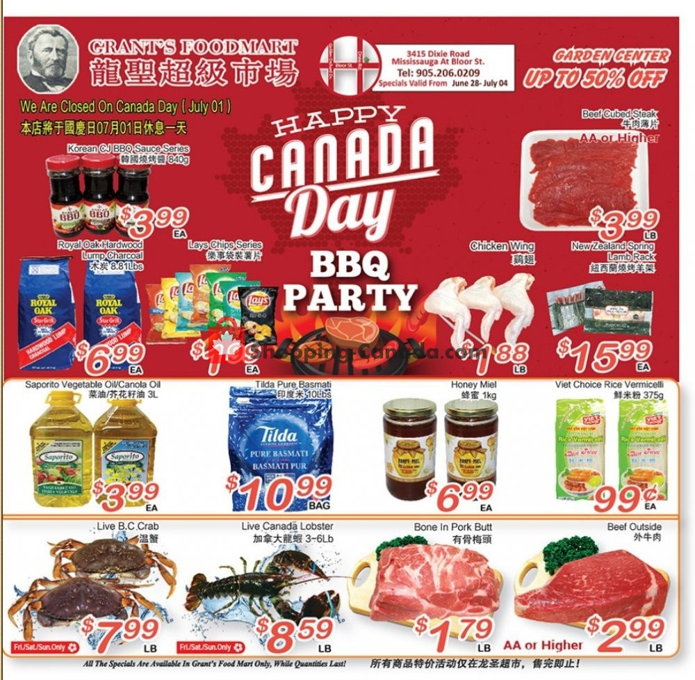 Flyer Grant's Foodmart Canada - from Friday June 28, 2019 to Thursday July 4, 2019