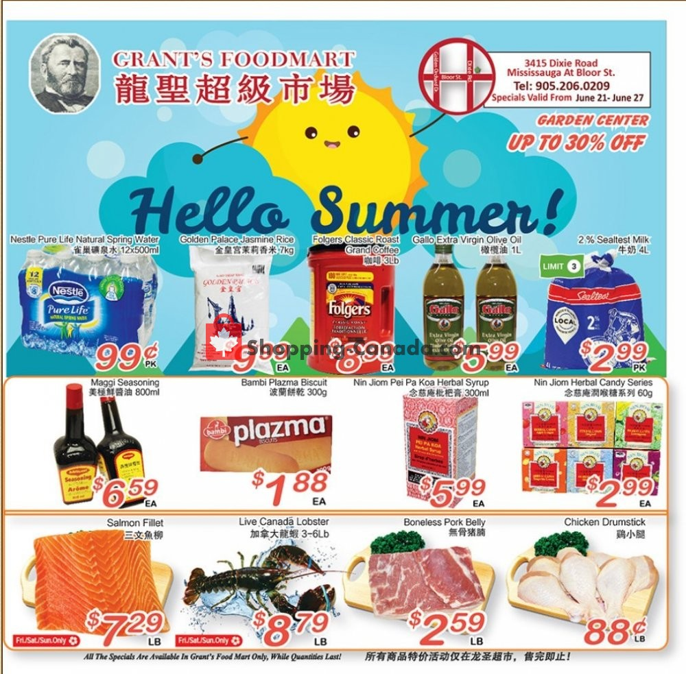 Flyer Grant's Foodmart Canada - from Friday June 21, 2019 to Thursday June 27, 2019